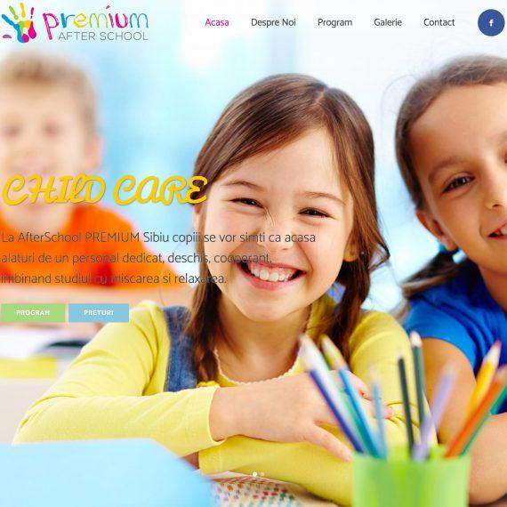 Creare site - AfterSchool PREMIUM Sibiu - Site Business