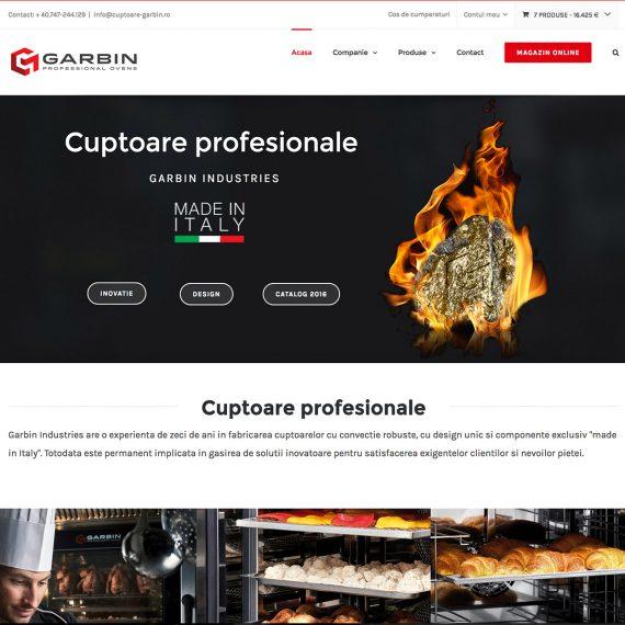 Creare site - Cuptoare profesionale - Garbin Industries