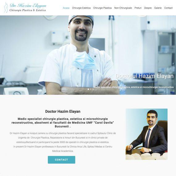 Creare site - Dr Hazim Elayan - Chirurgie plastica