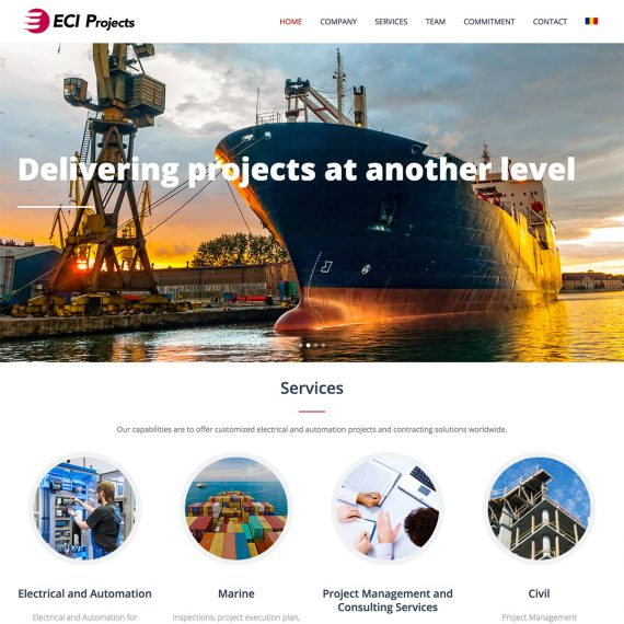 Creare site - Site business - ECI Projects