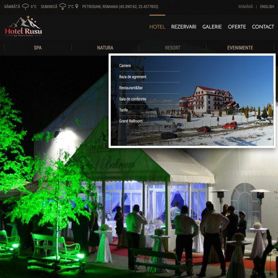 Creare site - Hotel Rusu - Masivul Parang, Petrosani