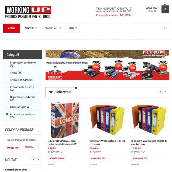 Creare site - WorkingUP - Produse premium pentru birou