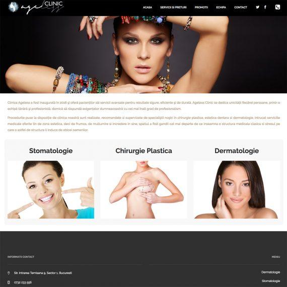 Creare site - AgCreare site - Ageless Clinic - Chirurgie Plastica Stomatologie Dermatologie