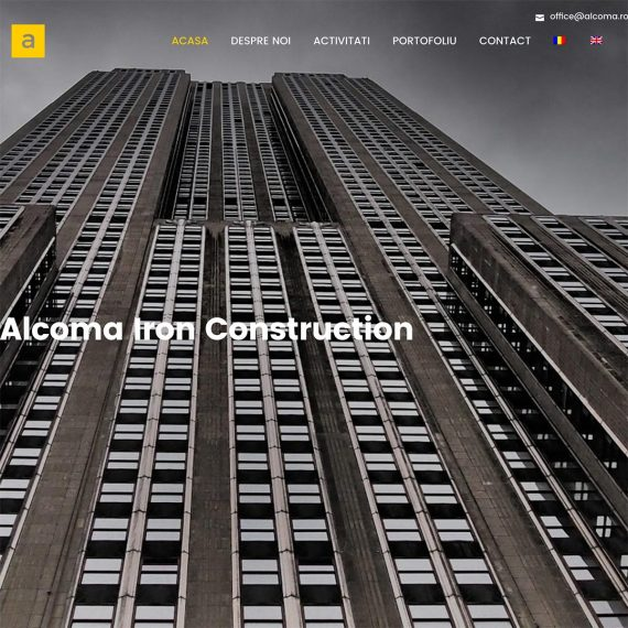 Creare site web, portofoliu - Alcoma Iron Construction