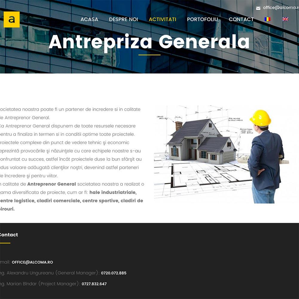 Creare site web, portofoliu - Alcoma Iron Construction