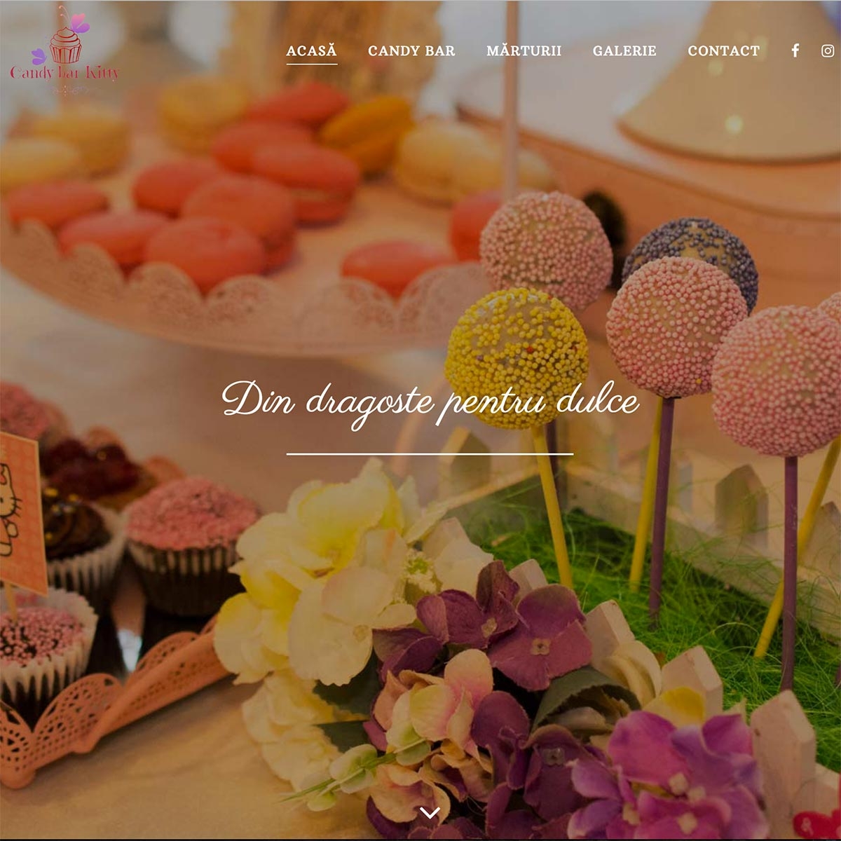 Creare site web, portofoliu - Candy Bar by Kitty