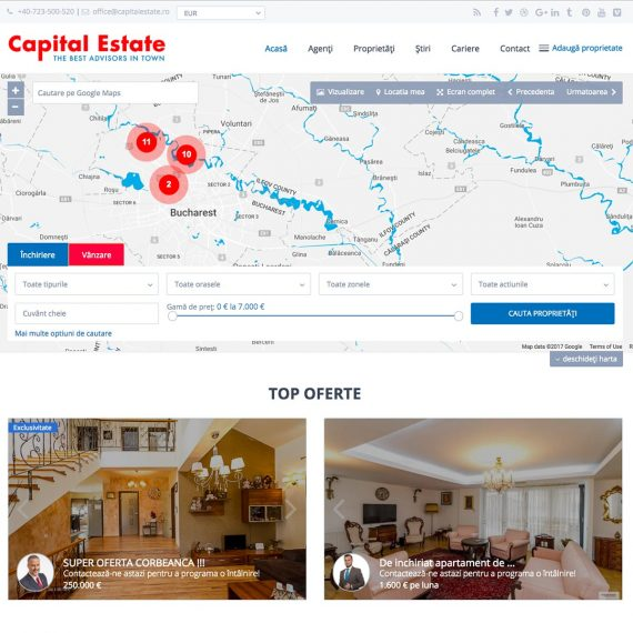 Creare site web, portofoliu - Capital Estate