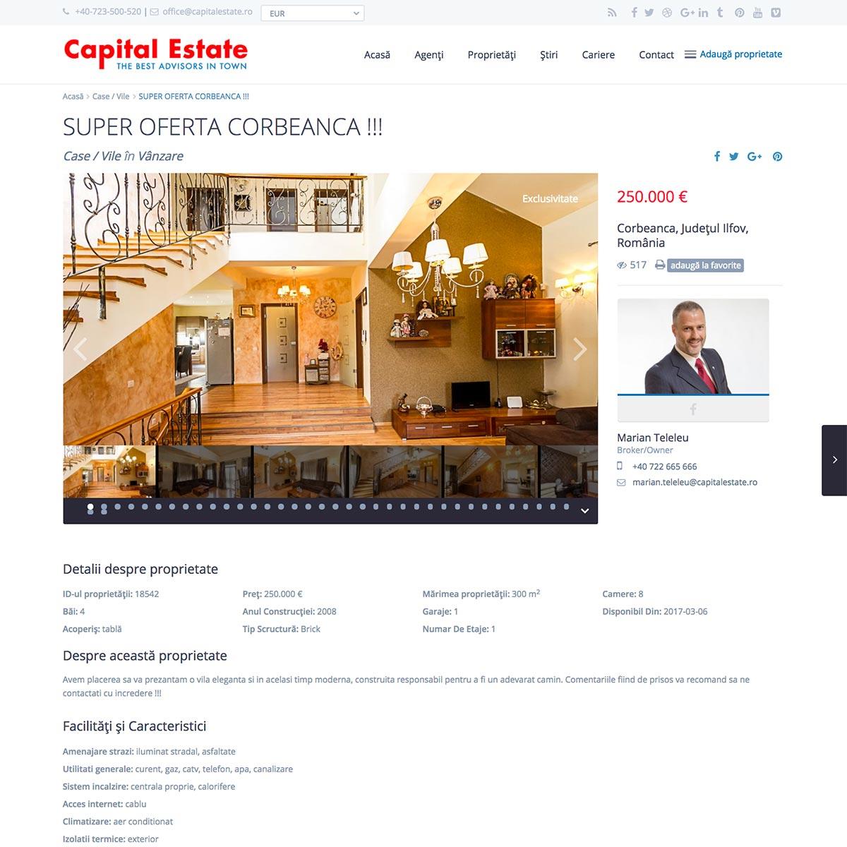Creare site web, portofoliu - Capital Estate
