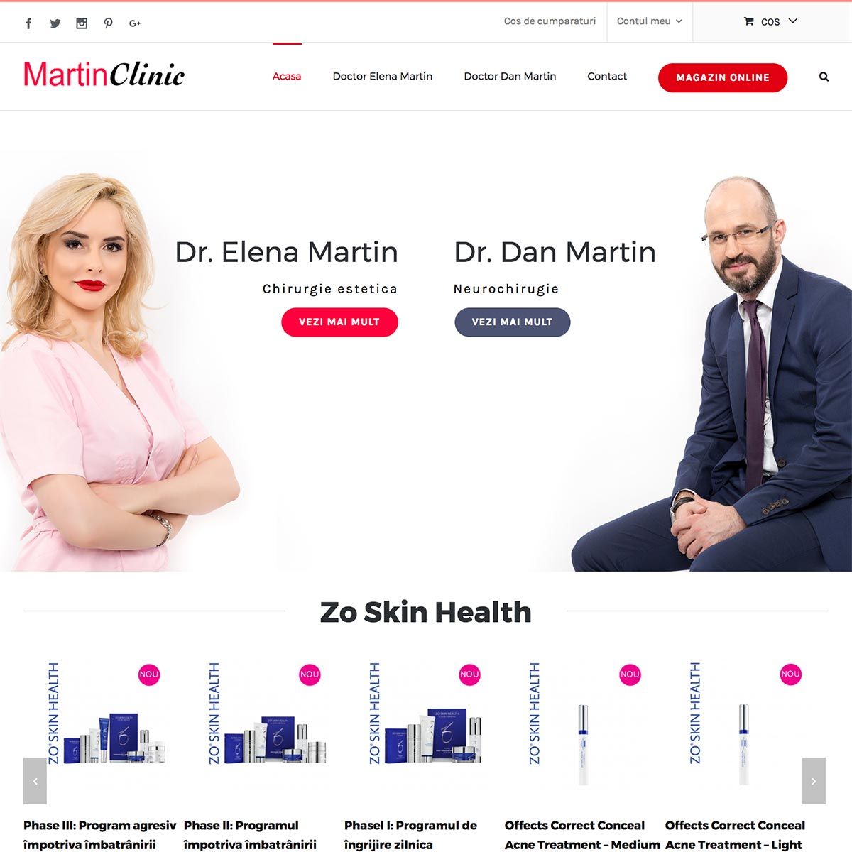 Creare site web, portofoliu - Martin Clinic